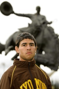 Michael Martinez qualified four times to the NCAA tournament for Wyoming