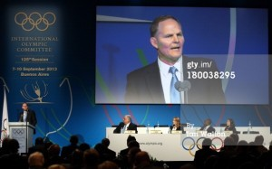 Jim Scherr was among five representatives of FILA to seek wrestling re-instatement to the Olympics during the IOC Congress in Buenos Aires on Sept. 8.