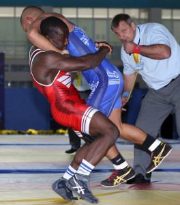 Spencer Mango (left) is now 10-11 overall in seven World/Olympic tournaments. (Bob Mayeri image)