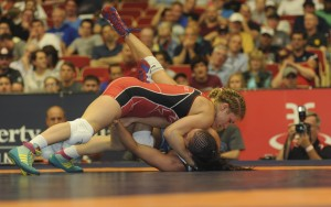 Helen Maroulis pinned Sarah Jacobson in a battle of 2015 U.S. Open champs.