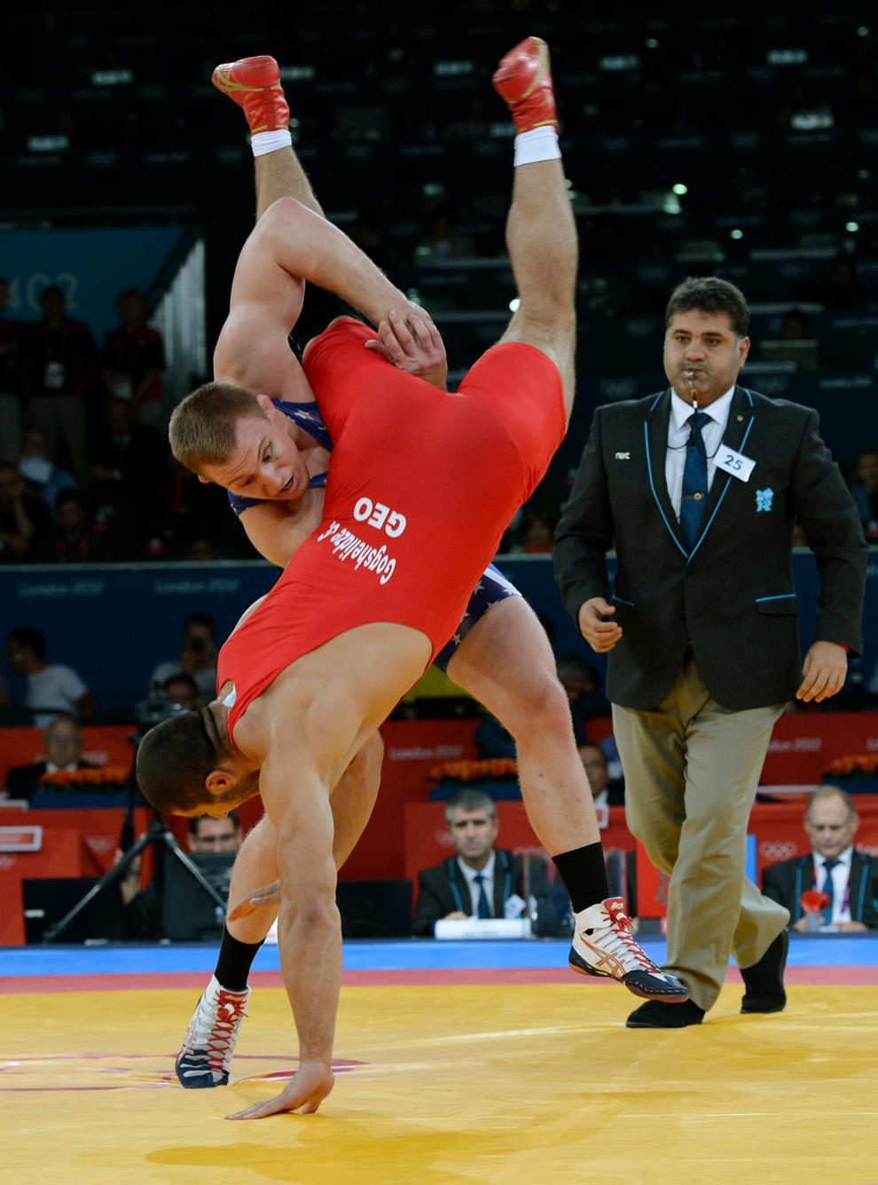 varner wrestles for a gold medal in london