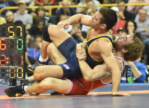 A strong gut by Daniel Dennis led to eight straight back points and 10-0 tech fall over 2015 World team member Tony Ramos at 57k/125 pounds.